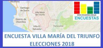 Encuesta Alcaldía de Villa María del Triunfo – Febrero 2018