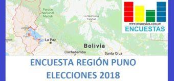 Encuesta Gobierno Regional de Puno – Marzo 2018
