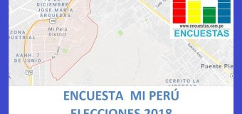 Encuesta Alcaldía de Mi Perú Marzo 2018